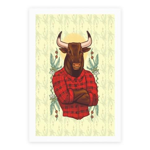 Flannel Taurus Poster