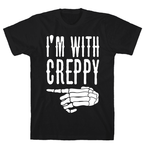 I'm With Spoopy & I'm With Creppy Pair 2 Mens T-Shirt