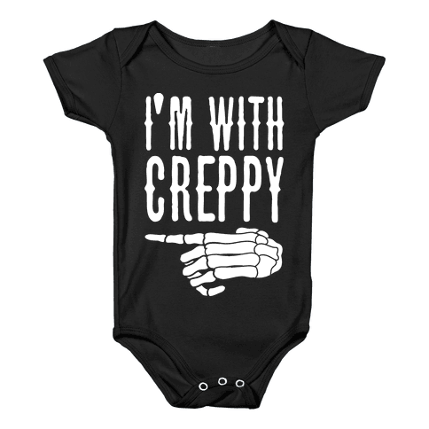 I'm With Spoopy & I'm With Creppy Pair 2 Baby Onesy