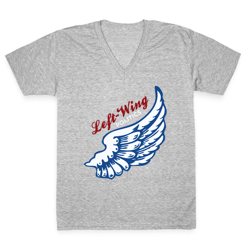 Left-Wing Politics V-Neck Tee Shirt