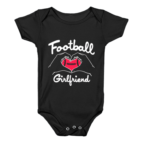 Football Girlfriend Baby Onesy