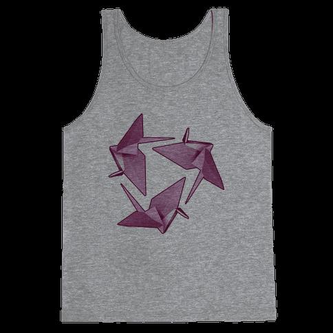 Origami Paper Crane Tank Top