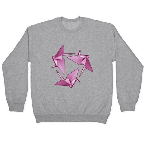 Origami Paper Crane Pullover