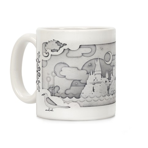 Hogwarts Cut Paper Coffee Mug