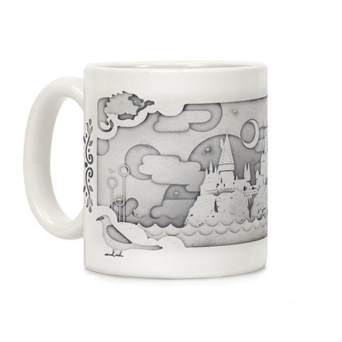 Hogwarts Cut Paper Coffee Mug