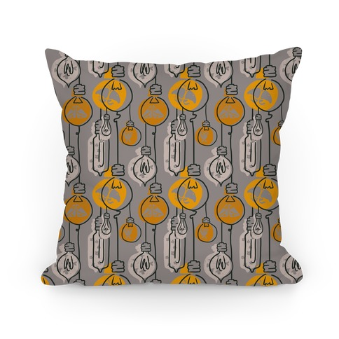 Moth And Wallflower Indie Lights Pattern Pillow