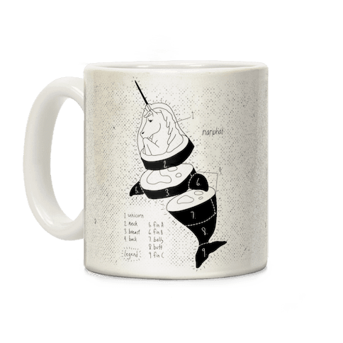 Narwhal Diagram Coffee Mug