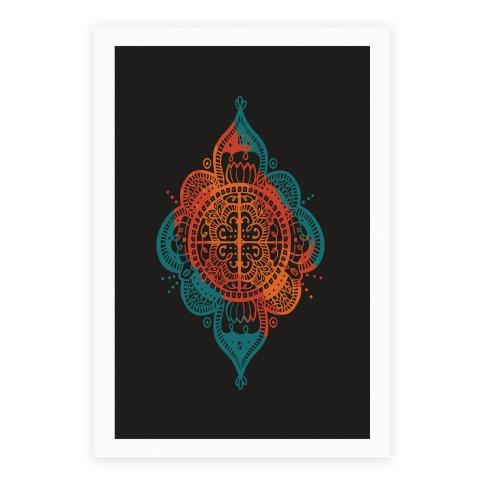 Rangoli Inspiration Pattern Poster