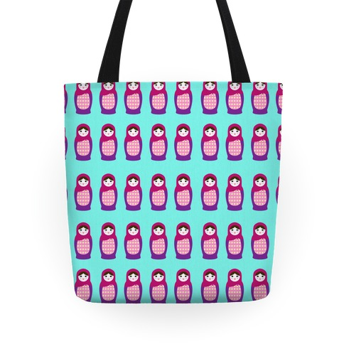 Cute Nesting Doll Pattern Tote