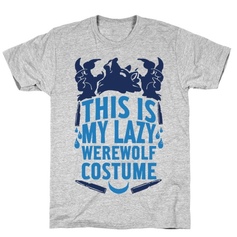 This Is My Lazy Werewolf Costume T-Shirt