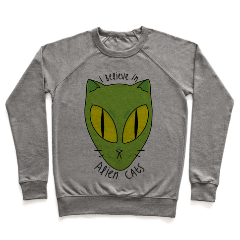 I Believe In Alien Cats Pullover