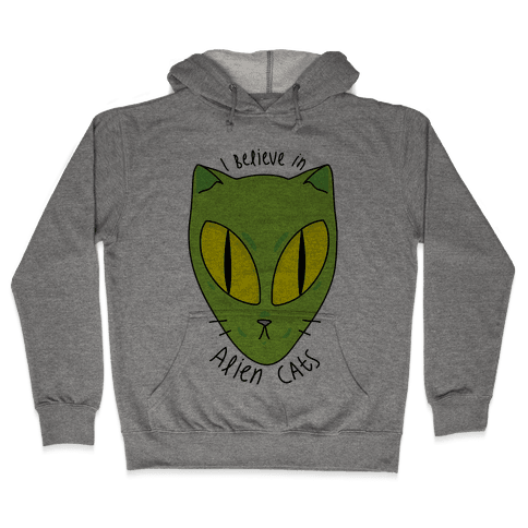 I Believe In Alien Cats Hooded Sweatshirt
