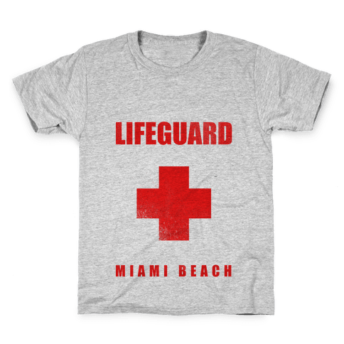 Miami Beach Life Guard (vintage) Kids T-Shirt