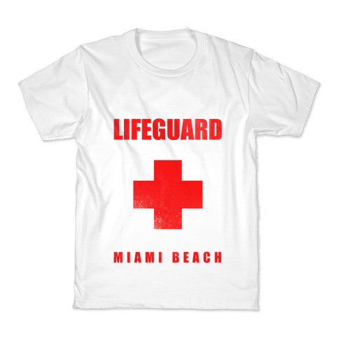 Miami Beach Life Guard (vintage) Kids T-Shirt