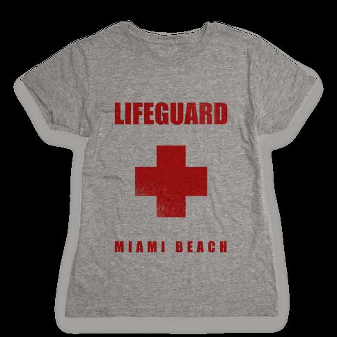 Miami Beach Life Guard (vintage) Womens T-Shirt