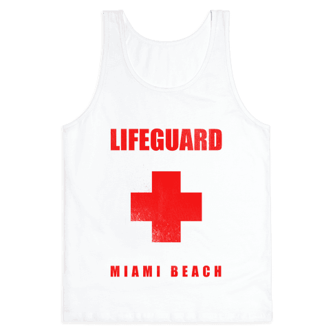 Miami Beach Life Guard (vintage) Tank Top