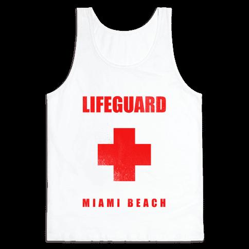 Miami Beach Life Guard (vintage) Tank Top