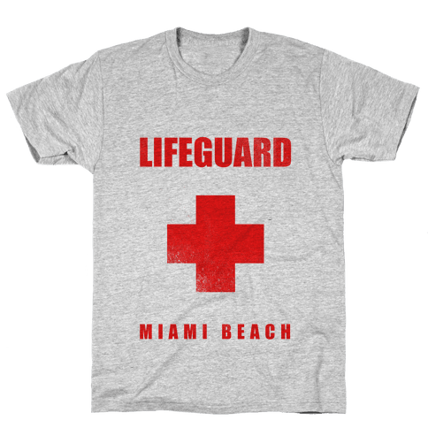 Miami Beach Life Guard (vintage) Mens T-Shirt