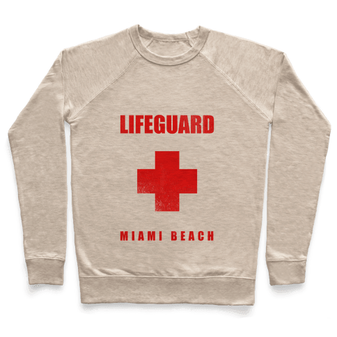 Miami Beach Life Guard (vintage) Pullover