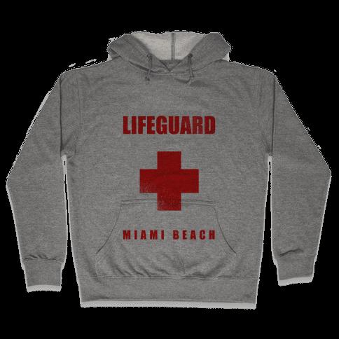 Miami Beach Life Guard (vintage) Hooded Sweatshirt