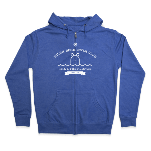 Polar Bear Swim Club Zip Hoodie