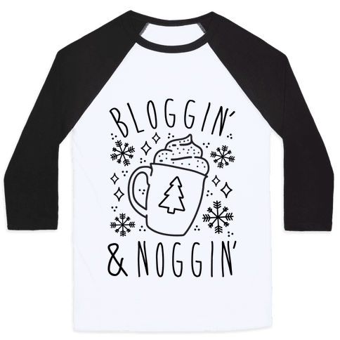 Bloggin' and Noggin' Baseball Tee