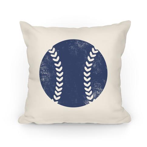 Blue Baseball Pillow Pillow