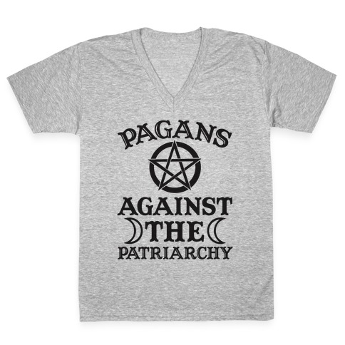 Pagans Against The Patriarchy V-Neck Tee Shirt