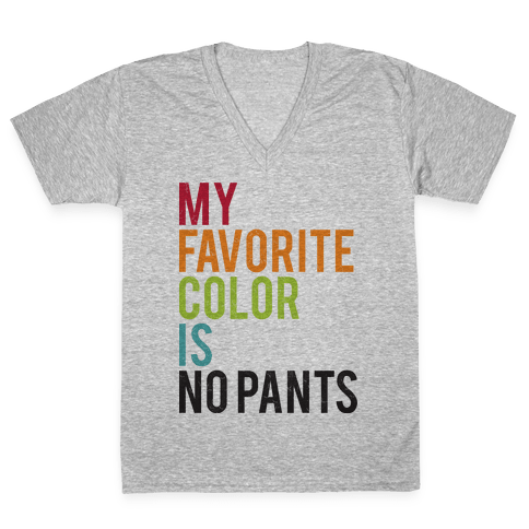 Favorite Color V-Neck Tee Shirt