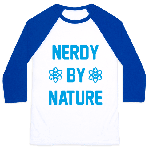 Nerdy By Nature Baseball Tee