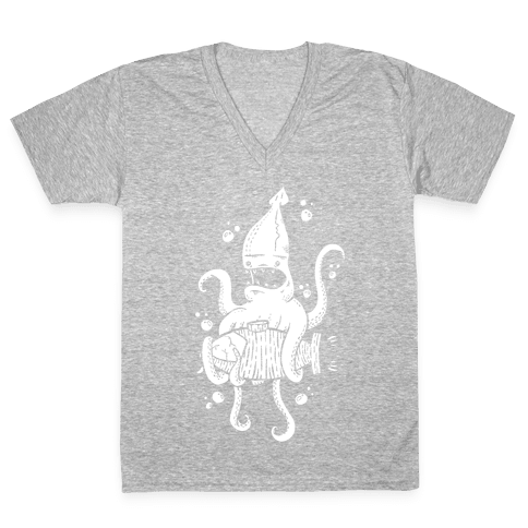 Squid Attack V-Neck Tee Shirt