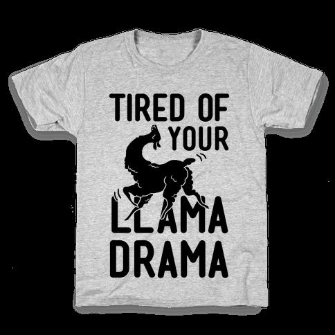 Llama Drama Kids T-Shirt