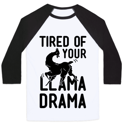 Llama Drama Baseball Tee