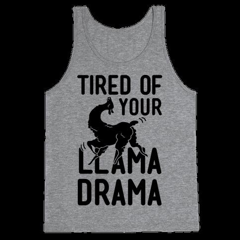 Llama Drama Tank Top