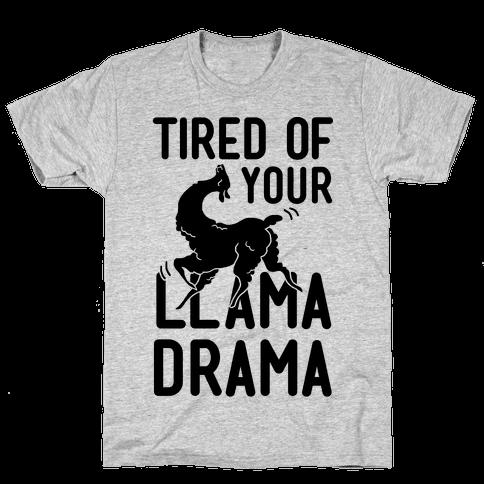 Llama Drama Mens T-Shirt