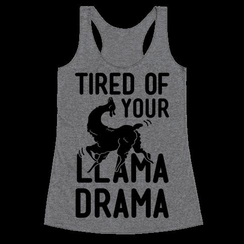 Llama Drama Racerback Tank Top