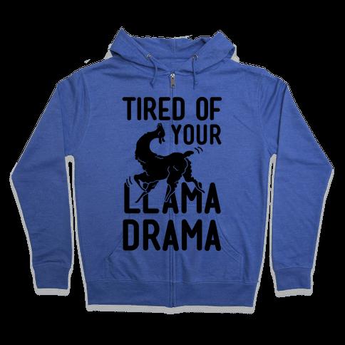 Llama Drama Zip Hoodie