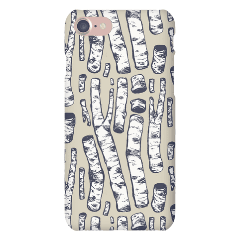 Birch Tree Cuttings Pattern Phone Case