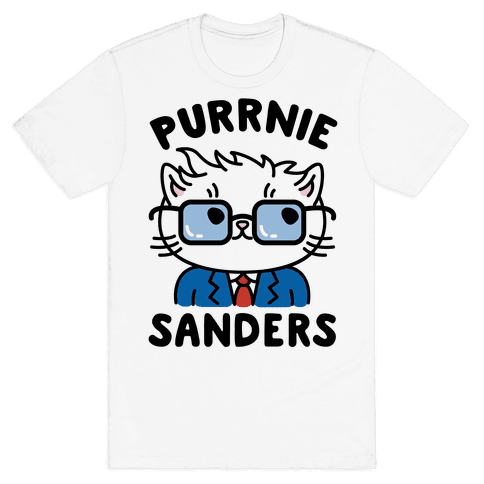 Purrnie Sanders Mens T-Shirt