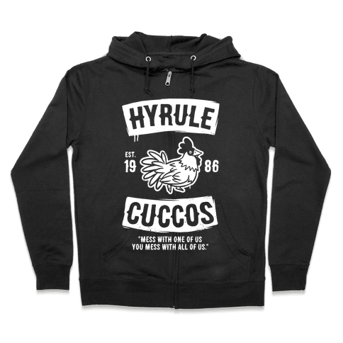 Hyrule Cuccos Zip Hoodie