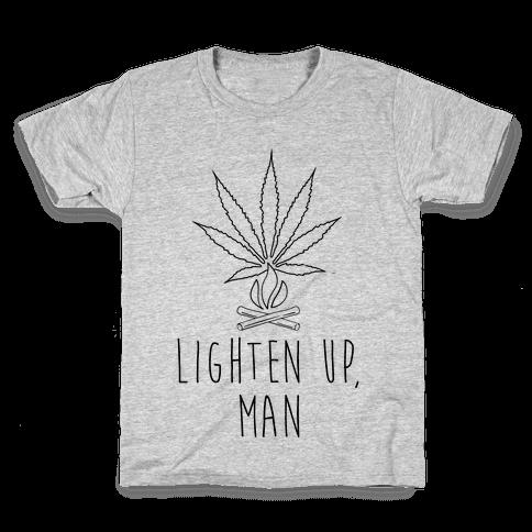 Lighten Up, Man Kids T-Shirt
