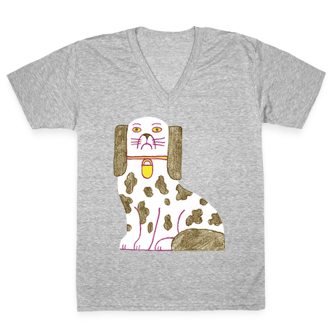 Rich Pup V-Neck Tee Shirt