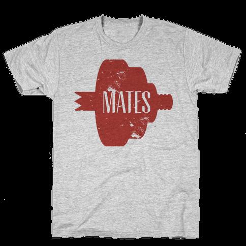 Mates half (red) Mens T-Shirt