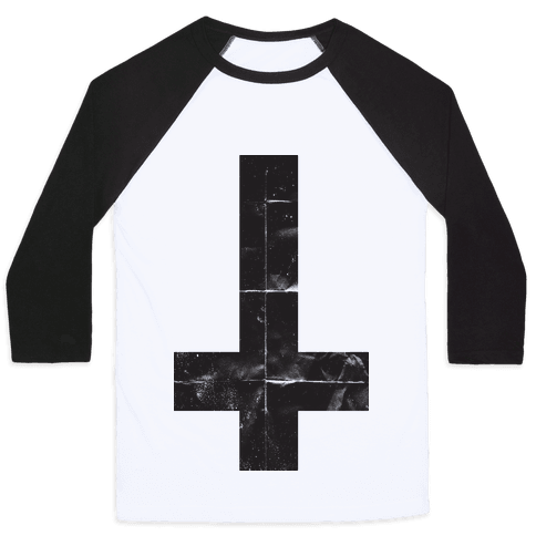 Upside Down Cross (Tank) Baseball Tee
