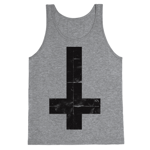 Upside Down Cross (Tank) Tank Top