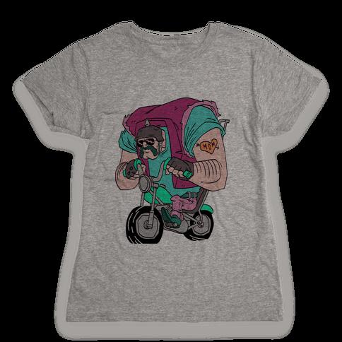 Biker Guy Womens T-Shirt