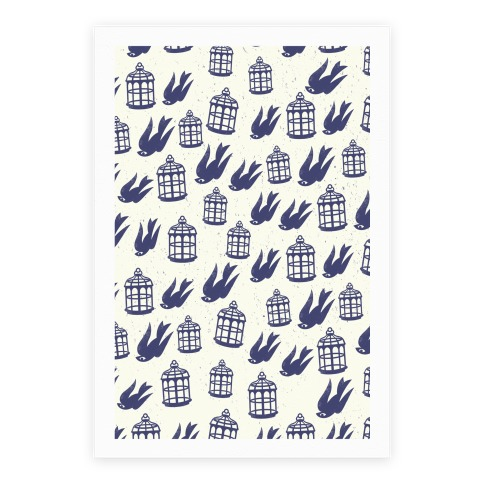Bioshock Infinite Pattern (Bird and Cage) Poster