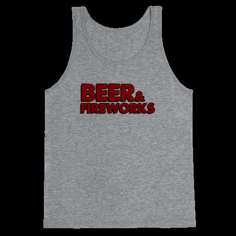 Beer & Fireworks Tank Top