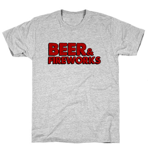 Beer & Fireworks Mens T-Shirt