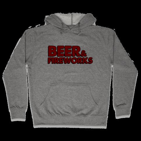 Beer & Fireworks Hooded Sweatshirt